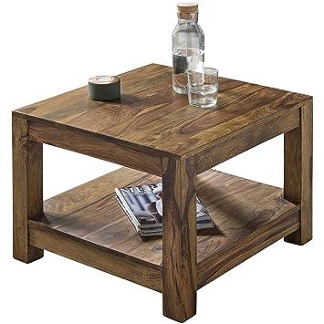 Wohnling Couchtisch Massiv Holz Sheesham 60 X 60 Cm Wohnzimmer Tisch