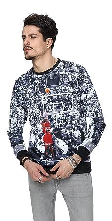Pizoff Unisex Hip Hop Sweatshirts mit 3D Digital Print 3D Muster Jordan  Basketball Jumper lore Y1759