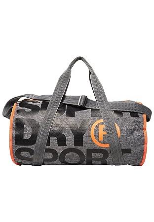 Superdry XL Sports Barrel Bag Grey Marl Duffel Bag 056afe5ab3db6