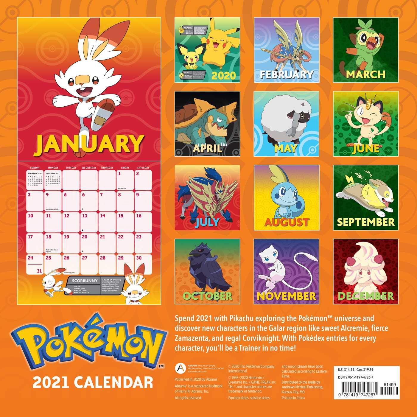 Pokemon 2021 Wall Calendar: Pokémon: 9781419747267: Amazon.com: Books
