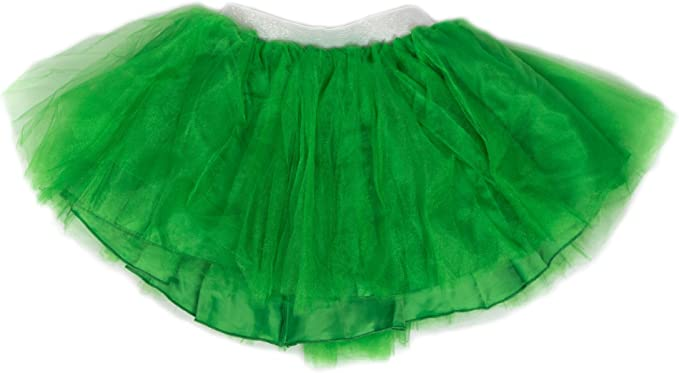 Everfan Dress Up Tutu Dance Skirt Kids and Adult Run Tutu 14 Color Options
