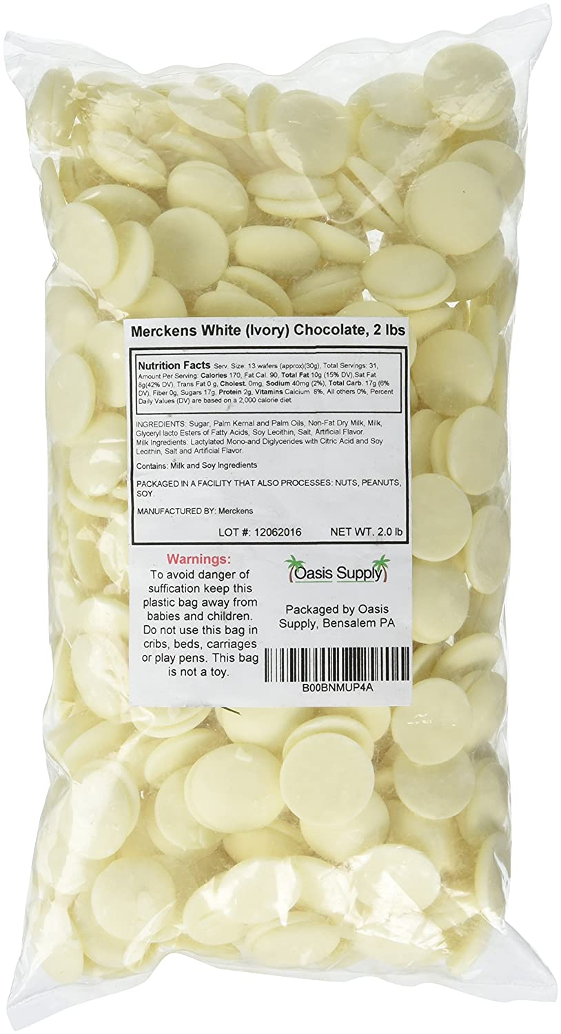 Merckens Ivory Chocolate, Rainbow White, 2 Pounds (Packaging May ...
