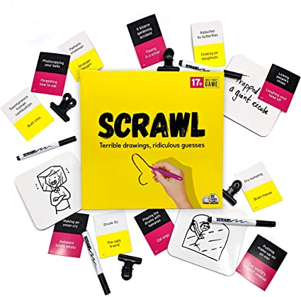Scrawl Adult Board Game Terrible Drawings And Ridiculous Guesses Big Potato Amazon Co Uk Toys Games