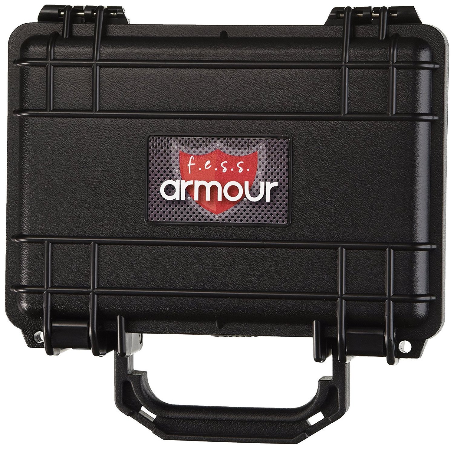 F.e.s.s. Fess Armour Waterproof Crushproof Air tight Floats On Water Solid Black Travel Cigar Humidor Capacity 10-15 Cigars