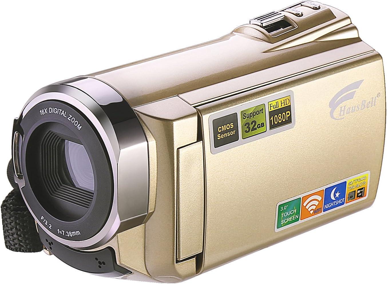 hausbell hdv 5052 touchscreen digital video camcorder