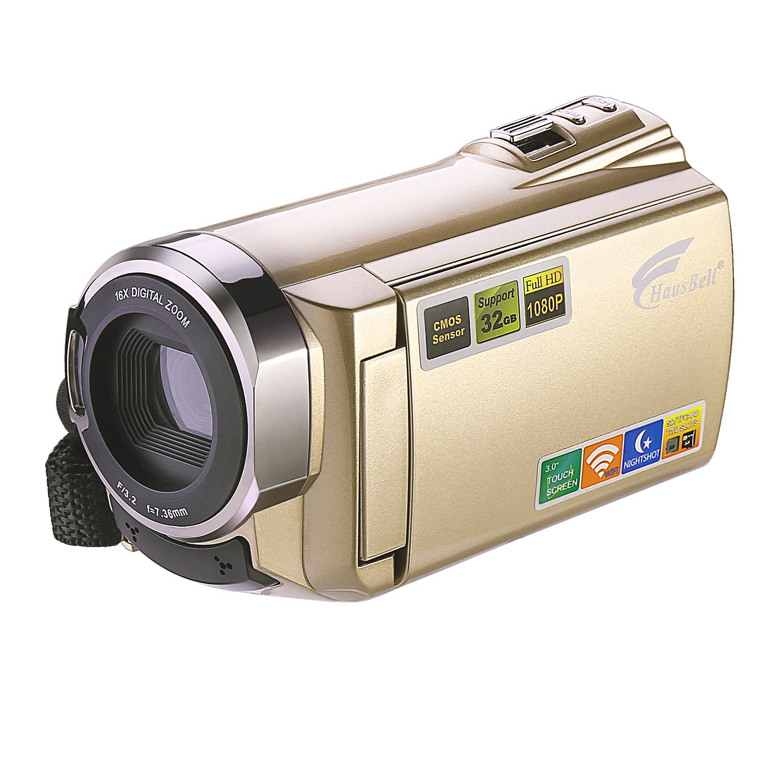 Camcorder, Hausbell Camcorder with WiFi,HDV-5052 1920x1080p Digital Video Camera Camcorder with Infrared Night Vision, Touch Screen and HDMI Output (5052)