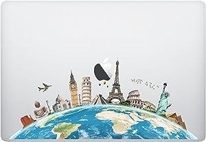 Laptop Notebook Computer Sticker Decal - World map - Skins Stickers