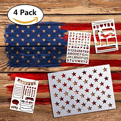 amazon com 50 star stencil american flag template for painting on