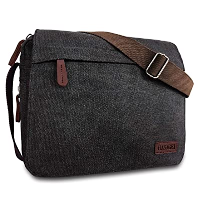 HASAGEI Men s Canvas Messenger Shoulder Bag Men s Messenger Bags Retro  Canvas Crossbody Bag Laptop Bag Satchel 5944a2774e2b2