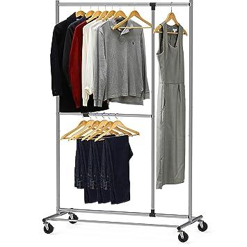 Amazon.com: Simple Houseware - Perchero ajustable para ropa ...