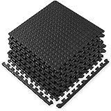 Gaiam Essentials Interlocking Exercise Mat, Square Puzzle Foam Tiles Home Gym Fitness Mat Workout Flooring, Multi-Purpose Use