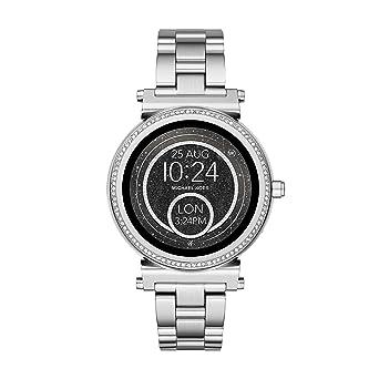 0cc021f3d247a Michael Kors Damen Digital Smart Watch Armbanduhr mit Edelstahl Armband  MKT5020  Amazon.de  Uhren