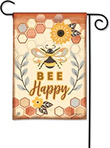 BreezeArt Studio M Honey and Hive Decorative Garden Flag – Premium Quality, 12.5 x 18 Inches