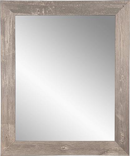 BrandtWorks BM041L3 Urban Frontier Barnwood Wall Mirror, 32 x 55, Brown