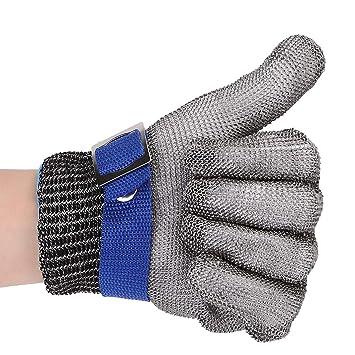 Schnittfeste Handschuhe Rostfreier Stahl Handschuh Level 5 zum Küche  Metzgerei (M)