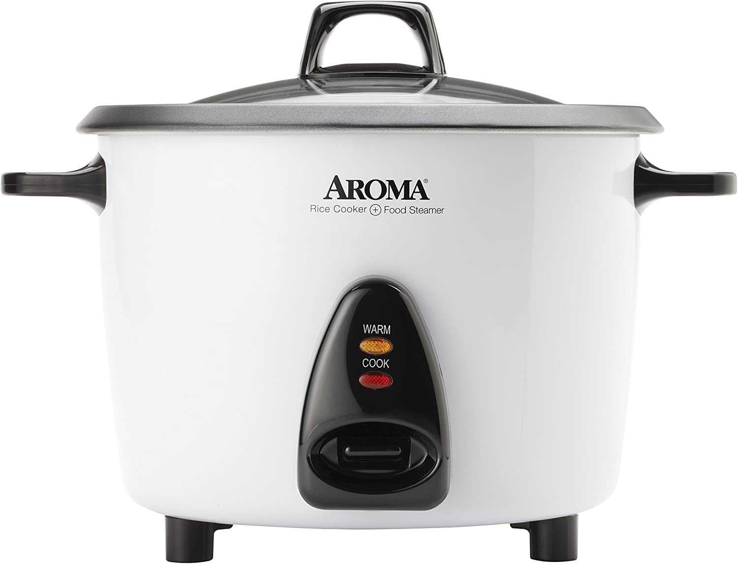 Aroma Housewares ARC-360-NGP 20-Cup Pot-Style Rice Cooker Food Steamer, White