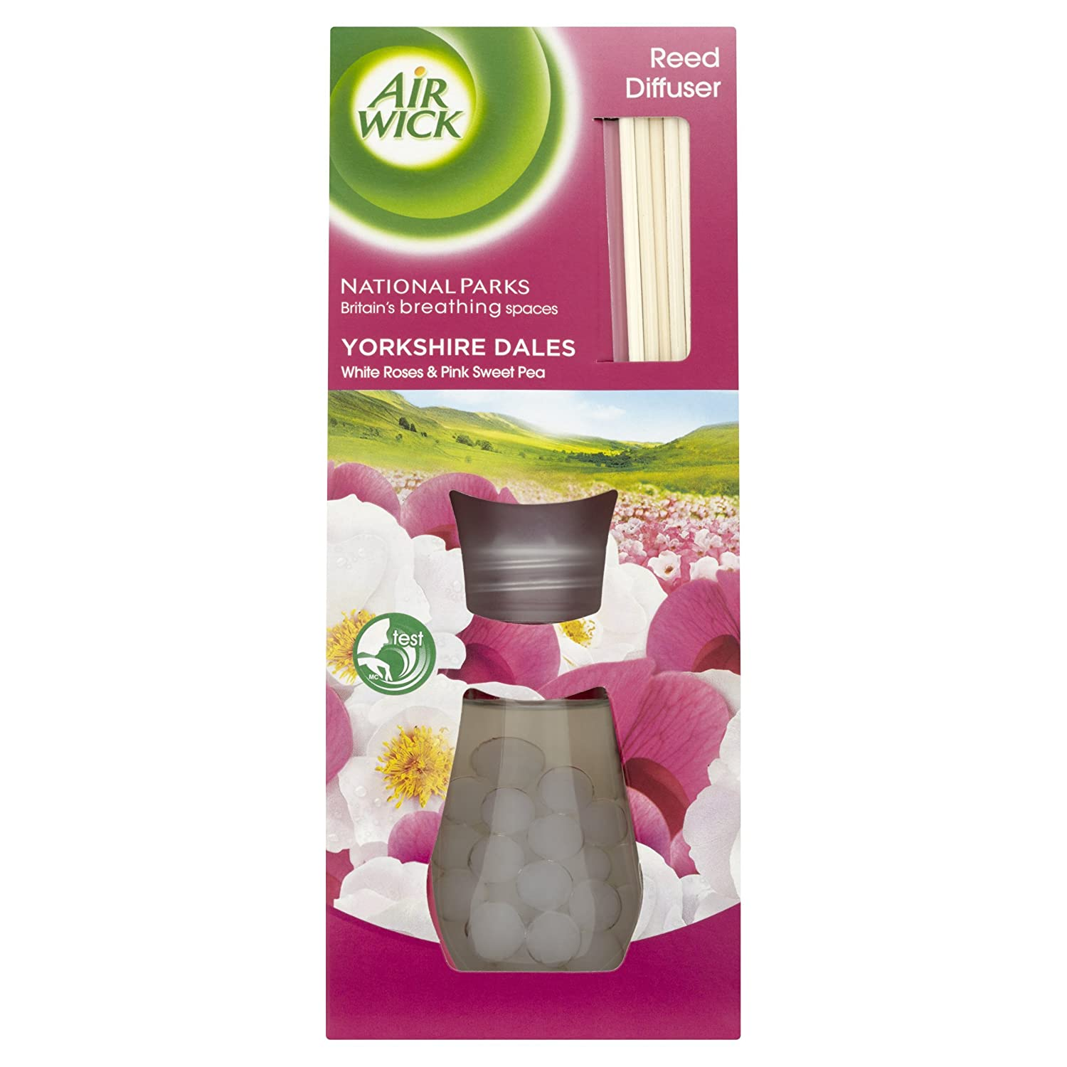 Air Wick Air Freshener, Reed Diffuser, White Vanilla Bean, 25 ml, Single Airwick