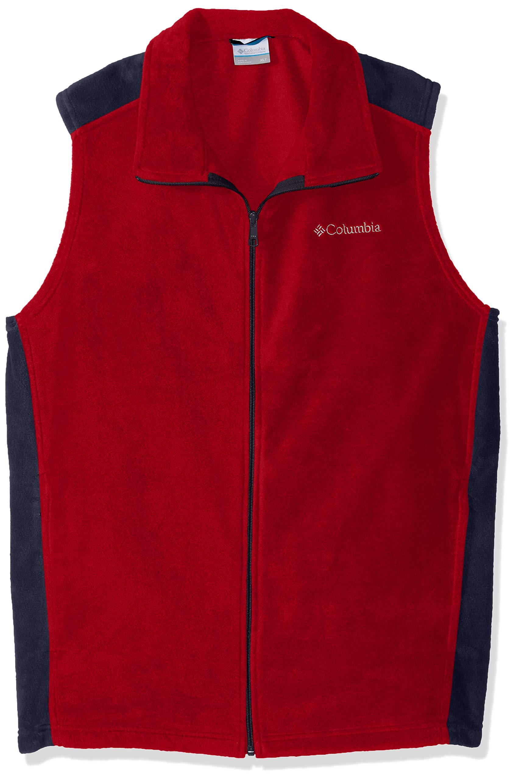 Columbia Men's Steens Mountain Vest, Red Spark, Collegiate Navy, M