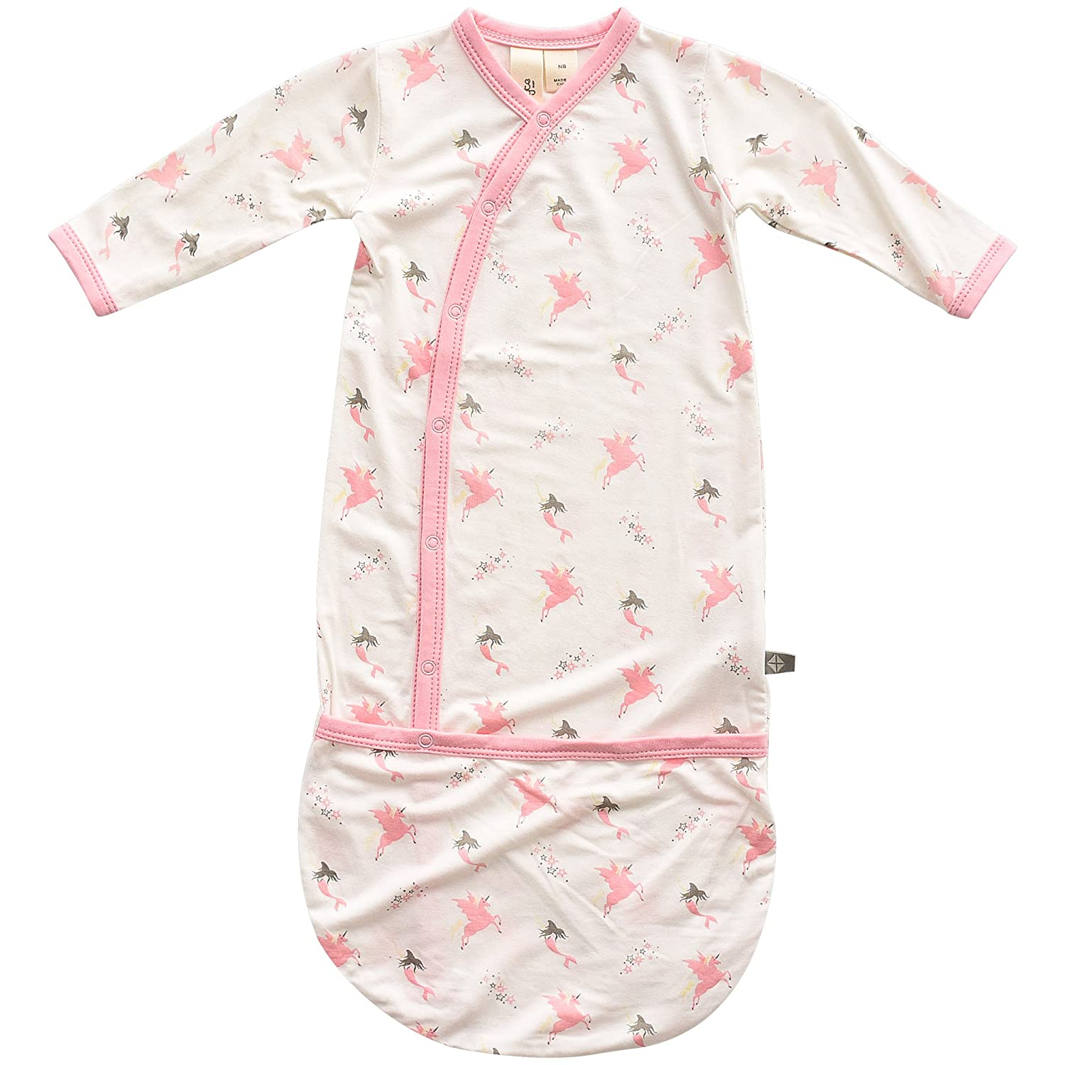 0-6 Months KYTE BABY Bundlers Baby Sleeper Gowns Made of Soft Organic Bamboo Rayon Material Printed Patterns