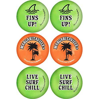 "amscan Margaritaville Party Pong Balls, 1.5"", 6 Ct: Toys & Games"