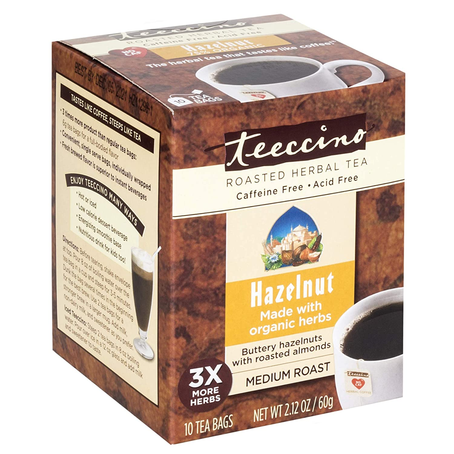 Teeccino Herbal Tea – Hazelnut