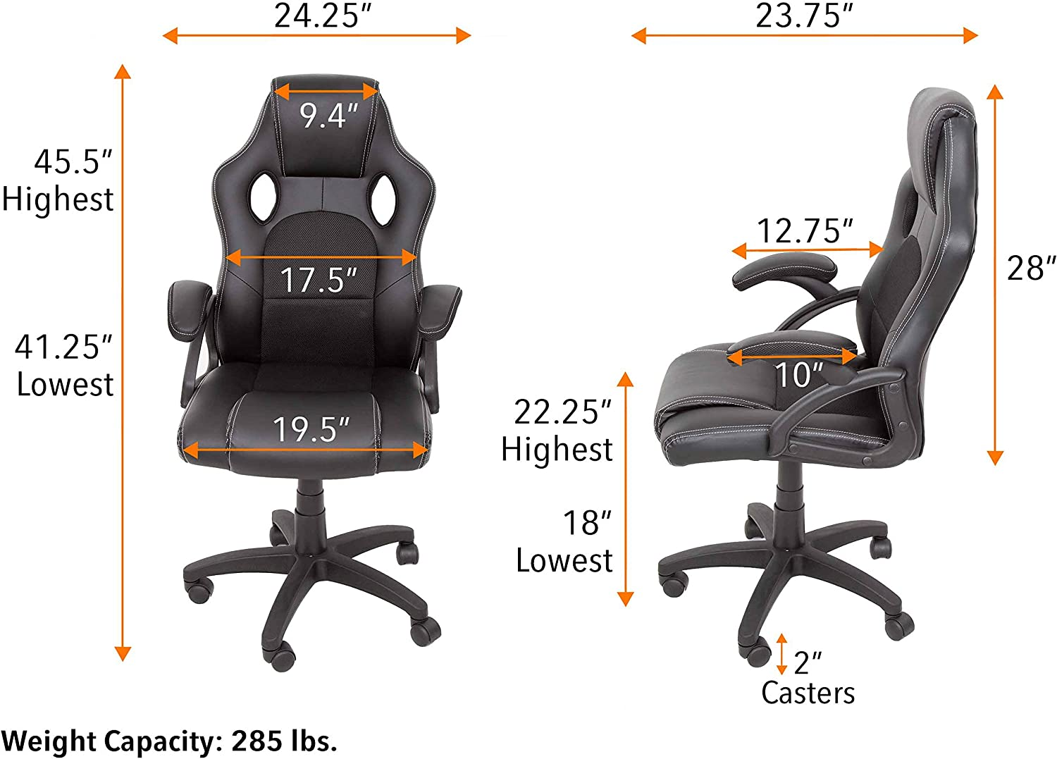 Stand Steady Ergonomic Desk Chair