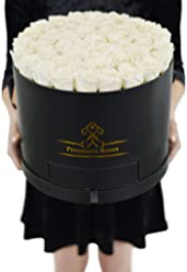 White Roses in The Box| Elegance Roses| Flowers for Birthdays, Weddings Or Anniversary
