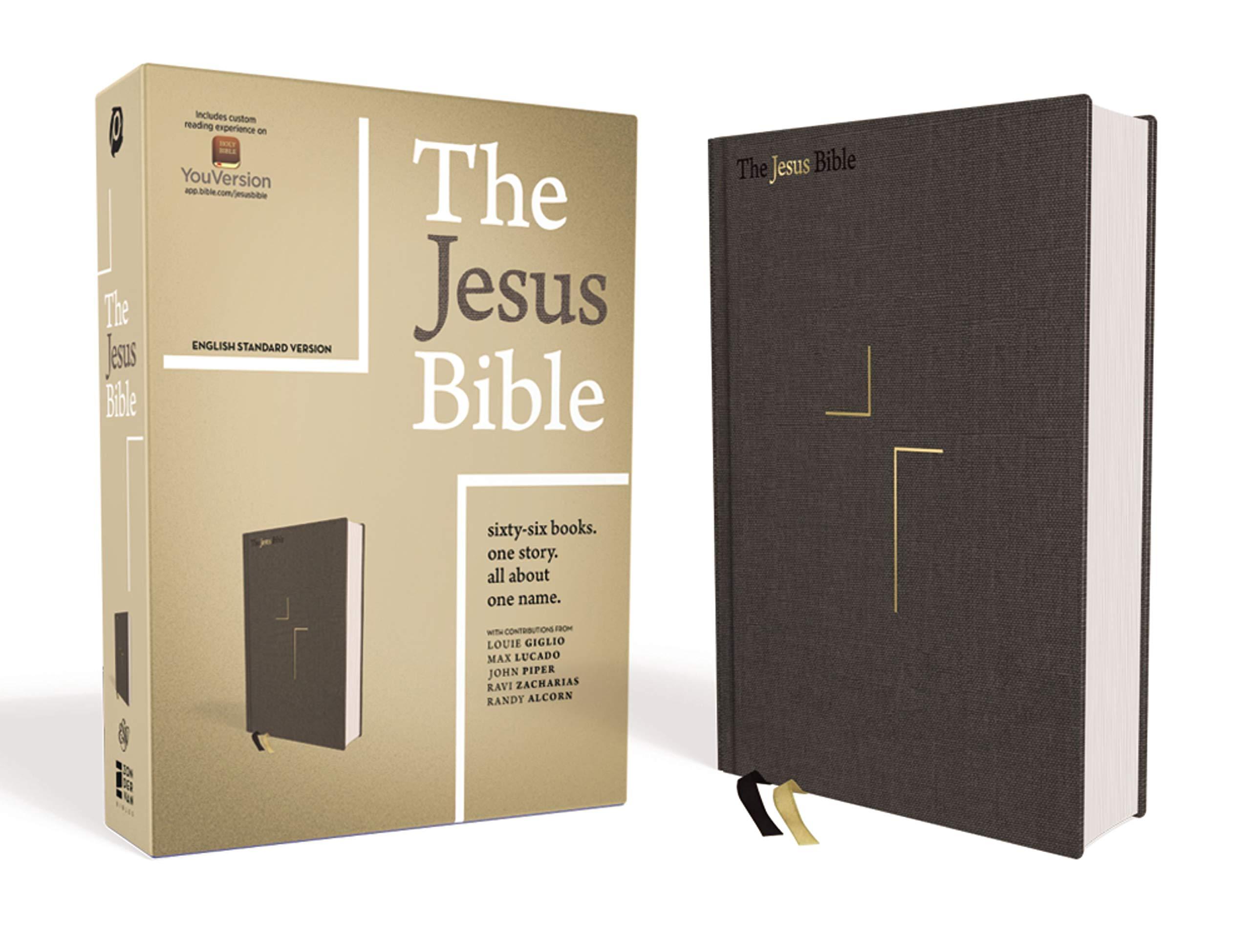 The Jesus Bible ESV Edition Cloth Over Board Gray