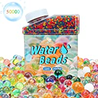 Waterparels, 50.000 stuks, grote waterparels, regenboog, kleurrijk mengsel voor bruiloft en woondecoratie, plantvaas