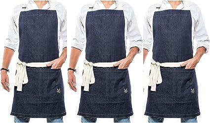 1 Unisex chefs Carniceros Delantal de Cocina Cocinar trabajo general//revisado//Un tamaño