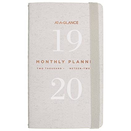 amazon com at a glance 2018 2019 monthly planner 2 year 3 1 2 x