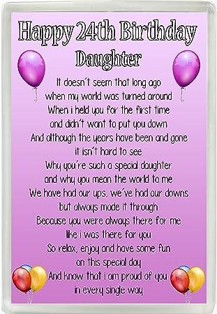 happy 24th birthday daughter poem jumbo fridge magnet ideal birthday