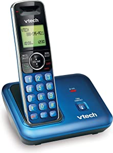 VTech CS6419-15 DECT 6.0 Cordless Phone with Caller ID, Expandable up to 5 Handsets, Wall-Mountable, Blue