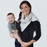 Nuroo Nursing Scarf, Gray Stripe