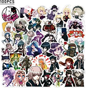 Danganronpa Stickers 100pcs Cool Anime Stickers for Computers Laptop Skateboard Stickers for Kids Teens Adults Laptop Skateboard Guitar Luggage Vinyl Decal Stickers