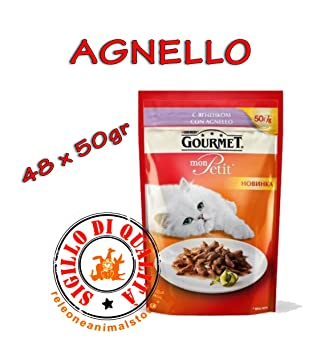 Mon Petit Gourmet Cordero comida húmedo para gatos adultos 48 x 50 gr: Amazon.es: Productos para mascotas