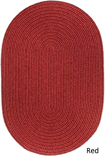 product image for Rhody Rug Woolux Wool Oval Braided Rug by (7' x 9') - 7' x 9' Oval Red