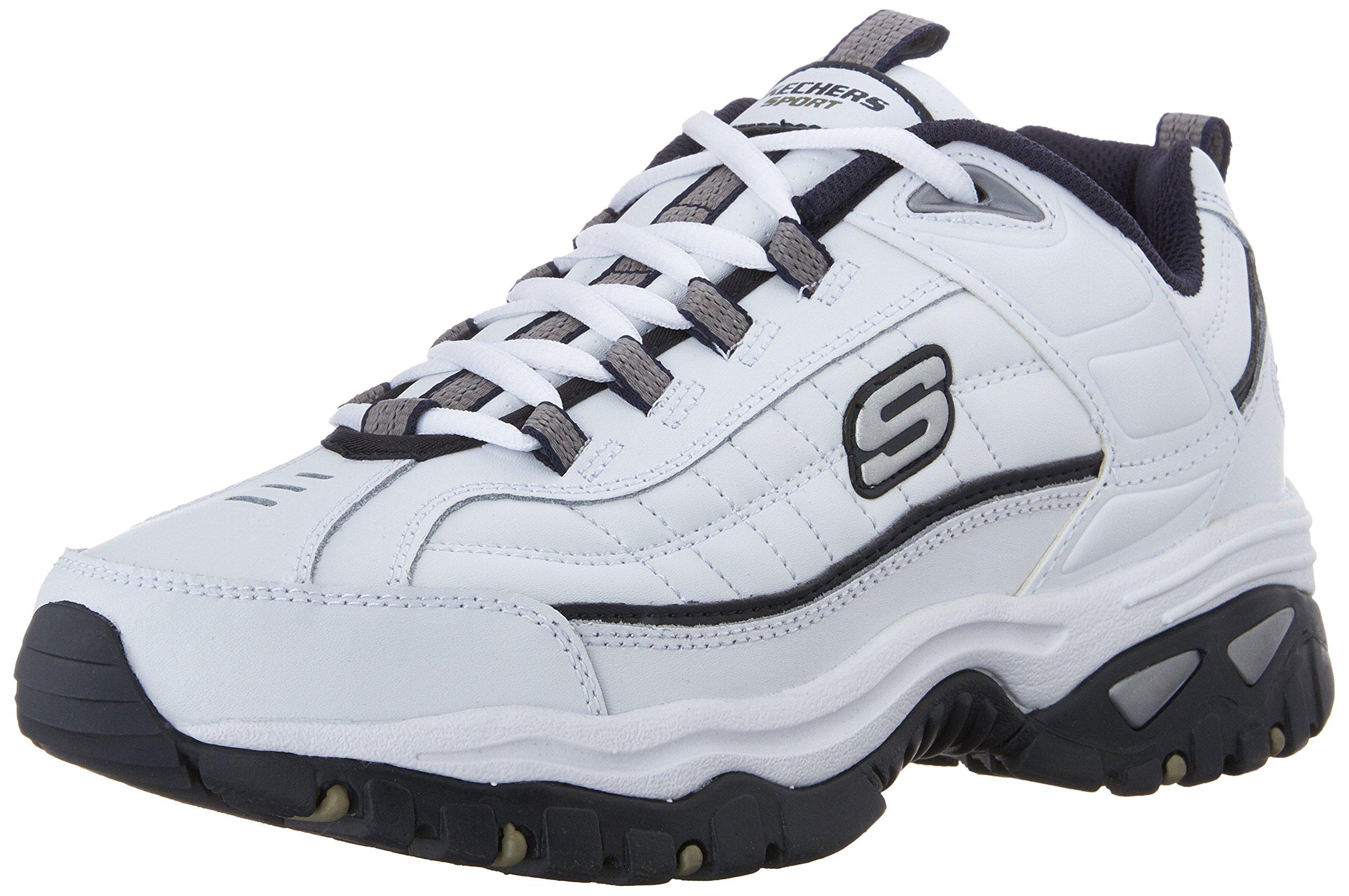 Skechers Men's Energy Afterburn Lace-Up Sneaker,White/Navy,14 M US by Skechers