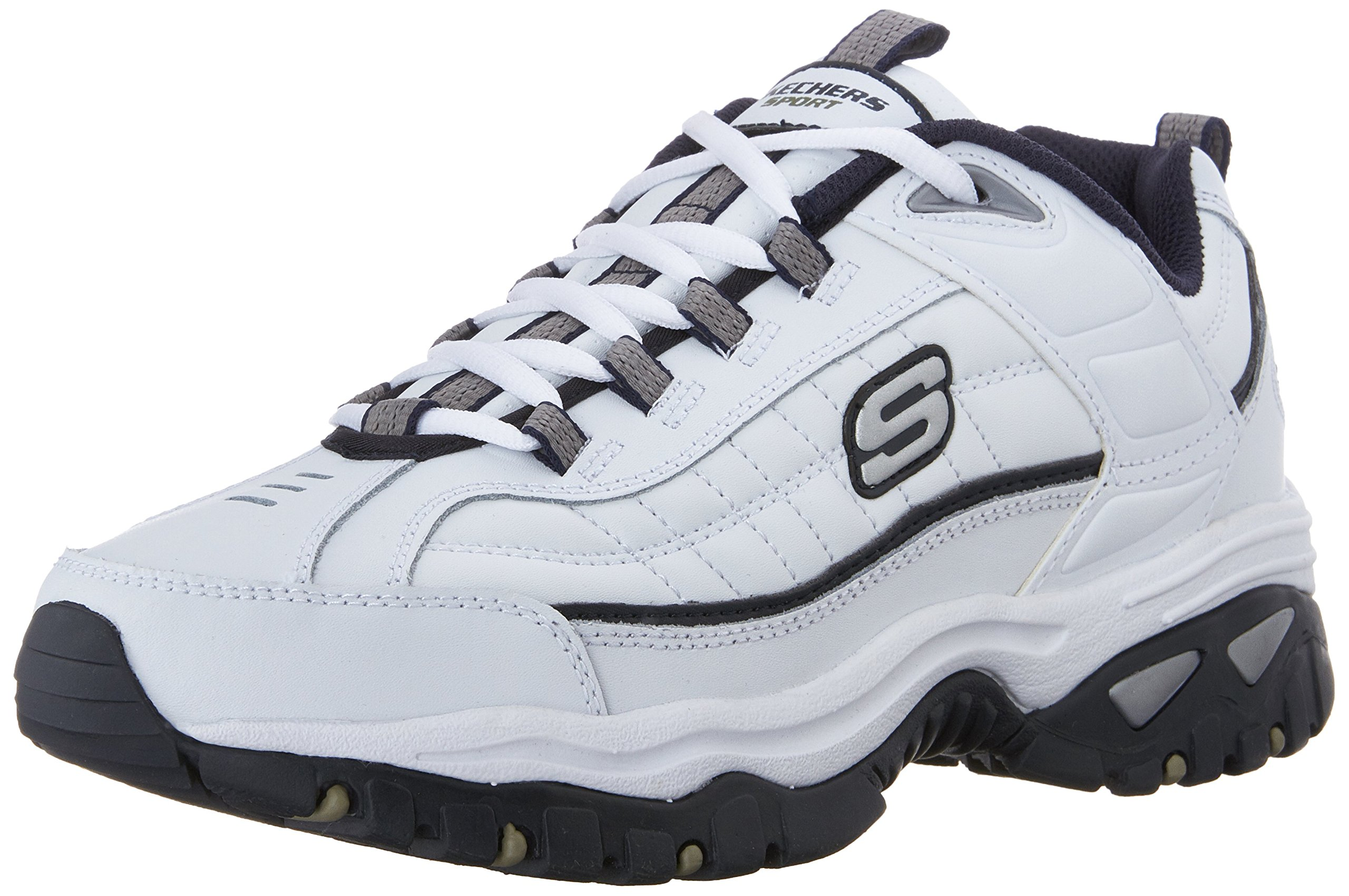 Skechers Men's Energy Afterburn Lace-Up Sneaker,White/Navy,10 M US by Skechers