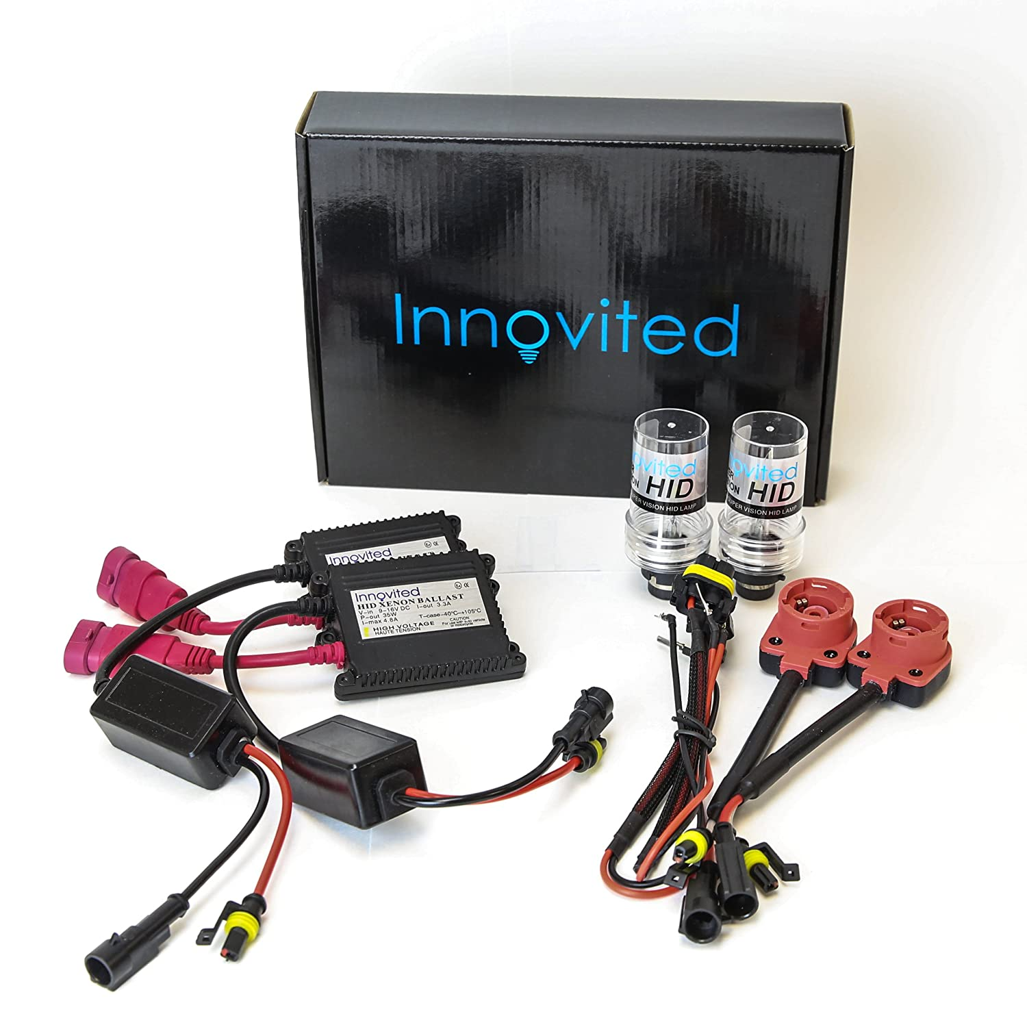Amazon.com: Innovited HID Xenon Conversion kit D2S D2R D2C 6000K Slim  Ballast: Automotive