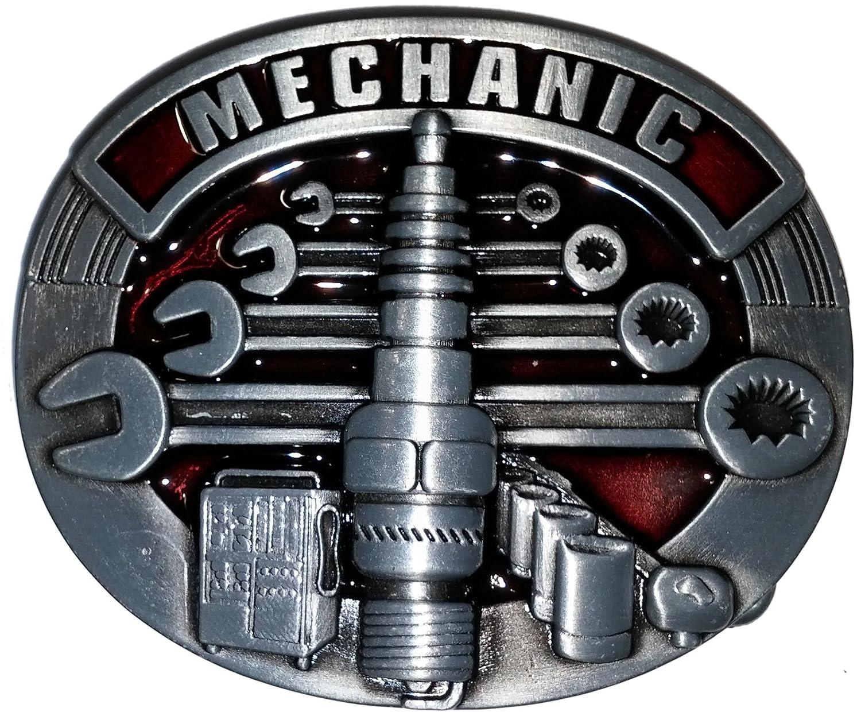 Shirtmatic Mechanic Mechaniker Buckle Gü rtelschnallen Auto V8 Werkstatt Hot Rod Rockabilly Mec-Sp1