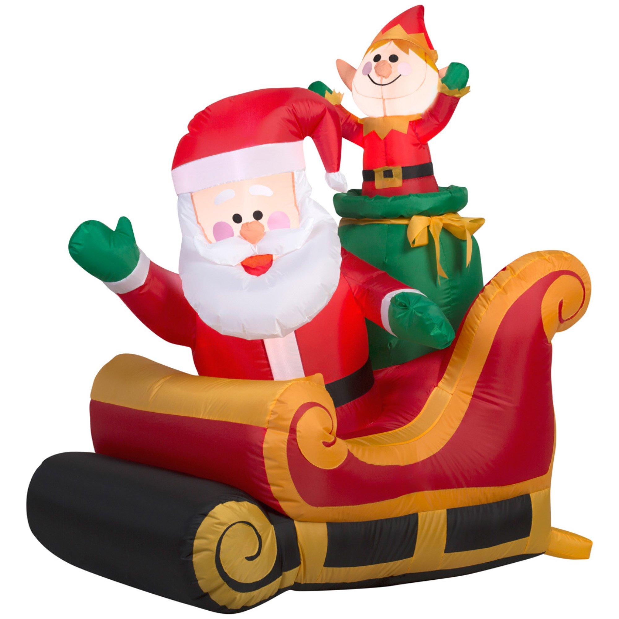 Gemmy Santa with Sleigh