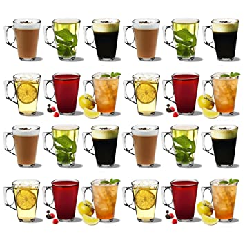 Vasos de café latte - 250ml (8.8oz) - Caja de regalo de 24: Amazon.es: Hogar