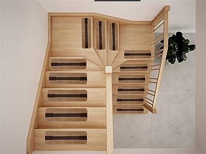 Luxury Stair Tread Treads Stripe Edge Geometric Design Indoor Skid Slip  Resistant Carpet Stair Tread Treads