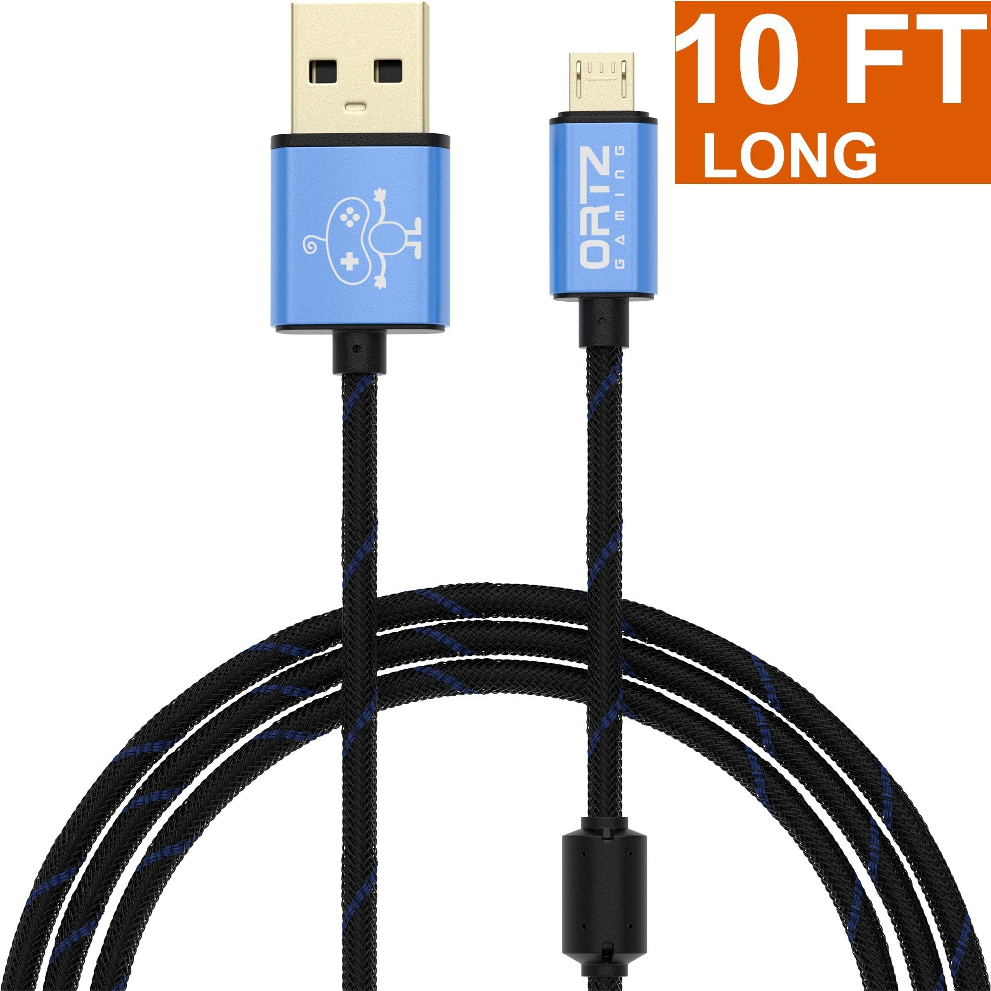 Best Usb Cable For Android Phone: Amazon.com: Ortz 10-Feet Charging Cable [RAPID CHARGE] for PS4 rh:amazon.com,Design