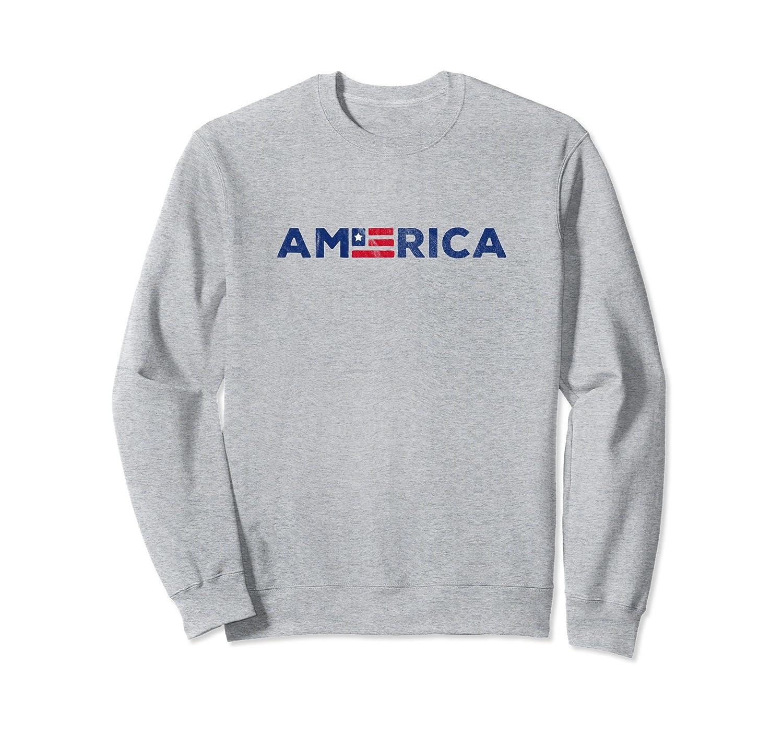 America | American Flag Old Glory USA Sweatshirt-mt