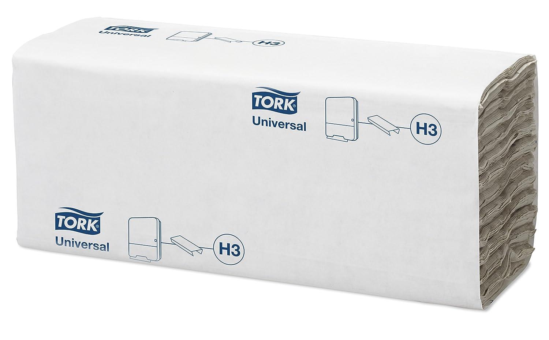 Tork 120181 Toallas de mano Universal desechables, plegadas en C compatibles con el sistema de Tork H3, 1 capa, color natural, 24 x 192 hojas (25 x 31 cm): ...