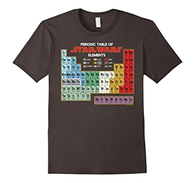 Amazon star wars periodic table of elements graphic t shirt mens star wars periodic table of elements graphic t shirt 2xl asphalt urtaz Images