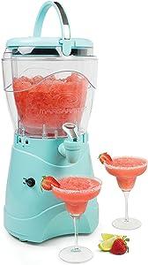 Nostalgia MSB1AQ Margarita & Slush Machine, Makes 1 Gallon of Drinks, Easy-Flow Spout, With Carry Handle, Aqua