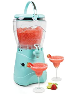 Nostalgia MSB1AQ Margarita & Slush Machine, 1 Gallon, Aqua, Stainless Steel